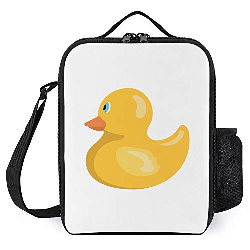Lunch Box for Kids Lunch Bags with Bottle Holder for Women Men Rubber Duck Fashion Insulated Lunchbox Large Reusable Meal Prep Bag for Work School Picnic