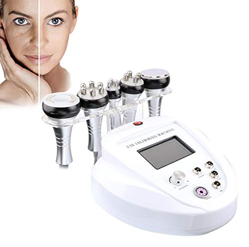 BEAUTTO 5in1 Multi-Functional Skin Tightening Machine, RF Face Lifting with Cavitation + 3MHZ Optical Radio + Vacuum + Cavitation + Optical Radio Wave Body Slimming Beauty Machine