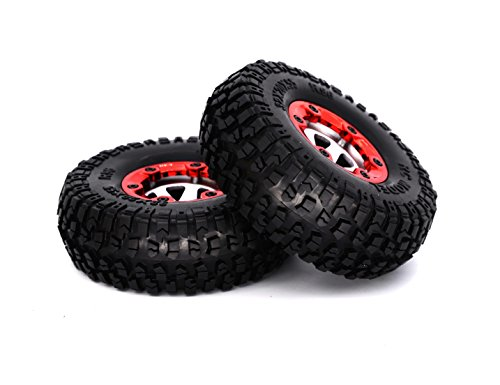 KELIWOW Wheel Rims and Tires for RC 1:12 On Road Car Pack of 2 PCS