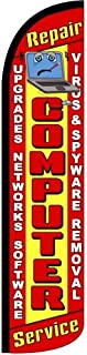 Computer Repair Tall Feather Banner Flag (3ft x 11.5ft) by The Flag Depot