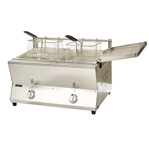 Great Features Of Stainless Steel Deep Fryer,gas Fryer Multi-function Fryer,deep Fat Fryers for Home Use Easy Clean,with Oil Return Pan and 2 Stainless Steel Frying Baskets