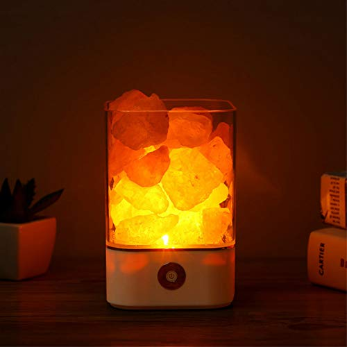 GKJRKGVF Usb Crystal lamp natuurlijke zout lamp LED lamp luchtreiniger stemming binnen warm licht tafellamp slaapkamer lava lamp