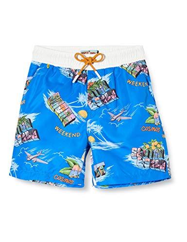 Scotch & Soda Shrunk Jungen Boardshorts mit Print Badeshorts, Mehrfarbig (Combo F 0222), 140 (Herstellergröße:10)