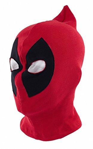 ToBe-U Deadpool Full Face Kostüm für Erwachsene Overhead Maske für Halloween Rot/Schwarz Einheitsgröße rot - Red B