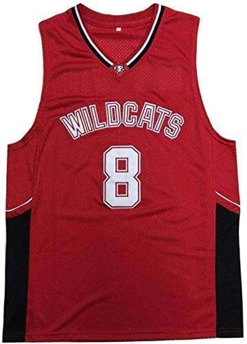 Chad Danforth 8 East High School Wildcats Red Basketball Jersey HSM3 Tee (34)