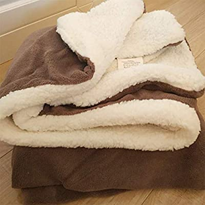 N/A N/A Fluffy Pet Dog Blanket, Warm and Soft Fleece Pet Throw for Small Medium Dog, Washable Puppy Blanket, 80 ×140cm, Brown
