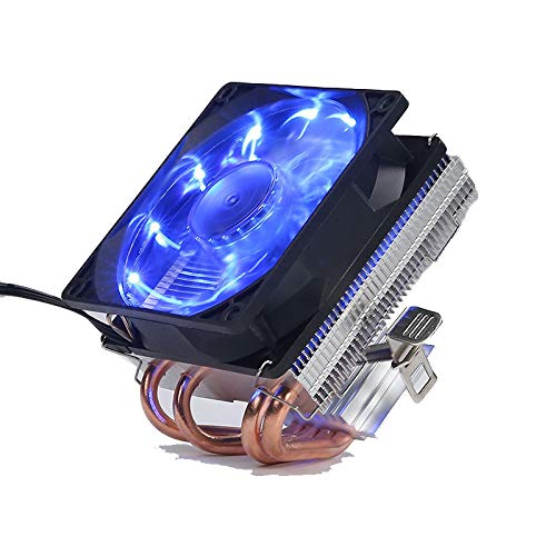elegantstunning 4 tubos de cobre Ventiladores CPU Cooler LED CPU Ventilador de refrigeración PWM silencioso CPU Cooler LGA/2011/115X/775/AMD 3Pin PC CPU refrigeración Radiador Streamer azul