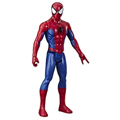 12-Inch scale Spider-Man figure – Imagine Peter Parker suiting up as the friendly, neighborhood Spider-Man with this 12-inch-scale Spider-Man figure, inspired by the classic character design from the Marvel Comics. Talking Super hero action figure – ...