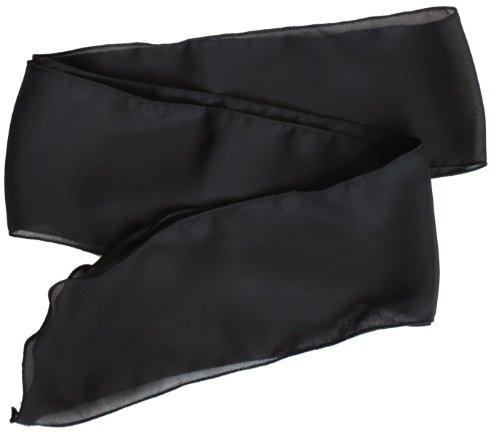 Sash Belt/Hair tie/Scarf Black Georgette