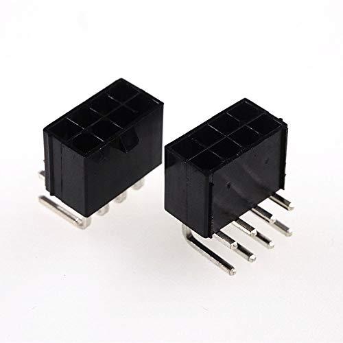 GENFALIN 20 stücke GPU 8 Pin Steckerstecker Gehäuse männlich PCB-Header Pins PCI-E PCI Express-Grafiken Grafikkarten PCIe-Computer-Anschluss 4.2mm (Color : Horizontal Header)