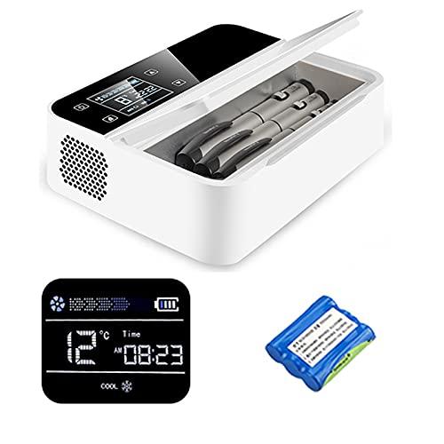 SHYM Insulin-Kühlbox Tragbarer USB-Akku-Medizininkubator Mini-Autokühlschrank mit Batterie Intelligente Temperaturregelung