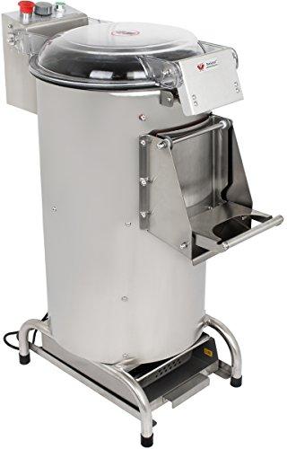 Beeketal 'BKSM10' Industrie Kartoffelschälmaschine 550 Watt mit 300 kg/Std. Verarbeitungskapazität und 10 Liter Volumen, Gehäuse aus Edelstahl, transparenter Deckel, inkl. Wasseranschluss und Timer