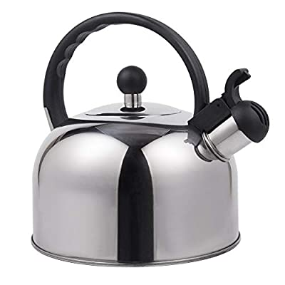 Stove Top whistling tea kettle stainless steel Teapot for Ergonomic Handle, 2.5QT
