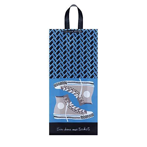 Derrière La Porte DLP, Sac Poche de Rangement pour Chaussures Homme/Femme 'Bien dans mes Baskets'
