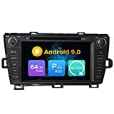 Android 10.0 Octa Core 4G Ram 64GB ROM Autoradio GPS Navigation Steering Wheel Control DVD Multimedia Player Headunit Stereo for Toyota Prius 2009 2010 2011 2012 2013 2014 Left Hand Driving