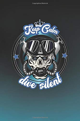 Rebreather Notebook - Dive Silent: 120 cream color Pages with lines for notes