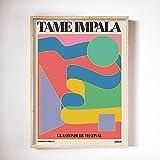 Llave negra para carteles e impresiones de Tame Impala Exposición de arte en color vintage Imagen impresa Lienzo sin marco familiar Pintura A 60x80cm