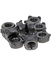 MroMax Tuercas de soldadura M4 Square UNC - Tornillo de acero al carbono (100 unidades), color plateado