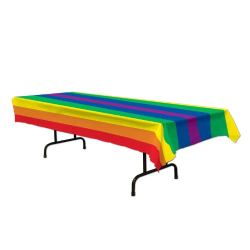 Rainbow Tablecover Party Accessory (1 Count)