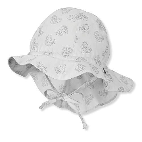 Sterntaler Baby-Mädchen Flapper 1412112 Hut, Weiss, 53