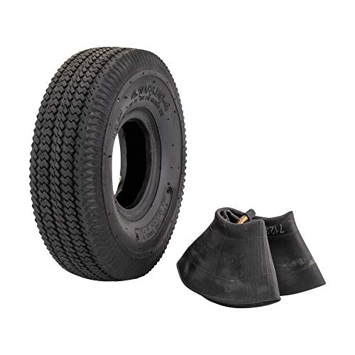 Marathon 4.10/3.50-4' Pneumatic (Air Filled) Hand Truck / All Purpose Utility Tire and Inner Tube