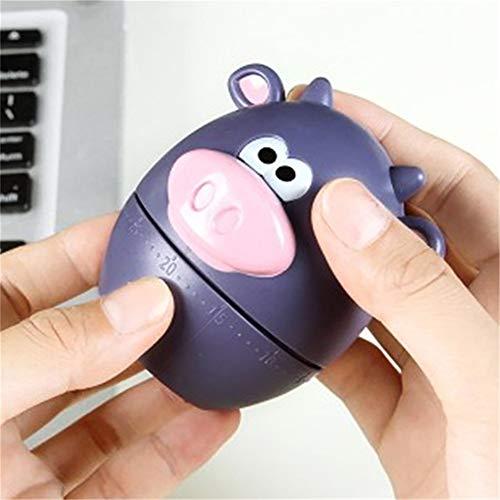 QWER Dial minuterie Rappel Alarme pour la Cuisine Accessoires de Cuisine 60 Minutes Cartoon Animal Cuisson de minuterie,C