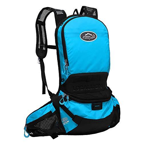 Yamyannie Reitrucksack wasserdichte Leichte Feuchtigkeitscreme Fließendes Wasser Rucksack for Wanderreitlager Reißverschlussfach Ihrer Kleidung Zu Speichern (Color : Green, Size : 48 * 22cm)