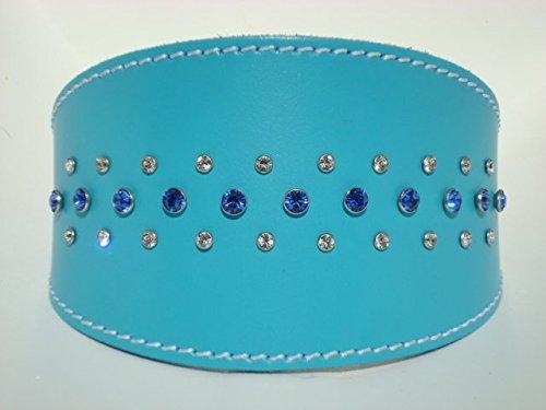 Collar de cuero GREYHOUND con cristales Swarovski genuinos