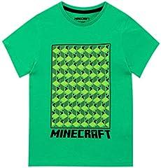Minecraft Camiseta de Manga Corta para niños Creeper Verde 10-11 Años