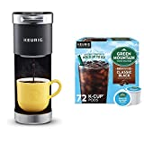 Keurig K-Mini Plus Coffee Maker with Green Mountain Coffee Roasters Brew Over Ice Classic Black, 72 Count