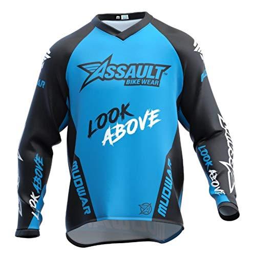 Jersey de ciclismo Siete Motocross Jersey Downhill manga larga Moto Jersey Mountain Bikeshirt motocicleta ropa (color: azul, tamaño: XXXL)