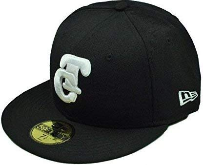 New Era 100% Authentic NWT, 59fifty Fitted Hat Pacific League Tomateros De Culiacan Men's Cap Black/White (7 1/2) - 7 1/2