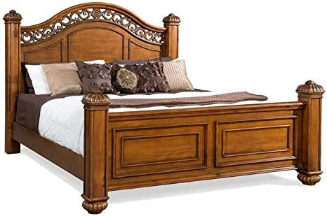 BOWERY HILL King Poster El Paso Mall Bed Beauty products in Oak