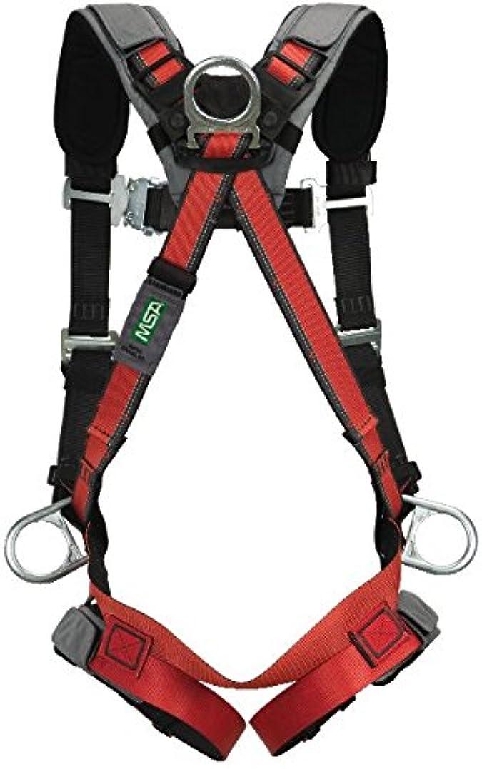 返還妻差し引くMSA 10105948 EVOTECH Harness with Back, Hip and Chest D-Rings, Qwik-Connect Leg Straps/Chest Strap, Shoulder and Leg Padding, Standard by MSA