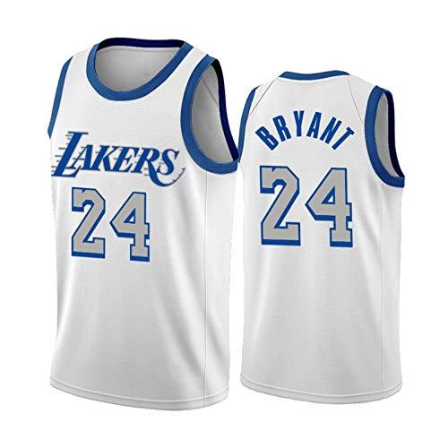 Camiseta de baloncesto Kobe RESTIGE Mends Memorial Kobe blanca, sin mangas, para aficionados al cáncer, transpirable, regalo blanco XXL