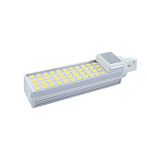 Bombilla LED G24 2 Pins Lámpara Máiz LED, 50 LED SMD2835 ,180 grados, 220V, 10W, Blanco frío [Clase de eficiencia energética A]