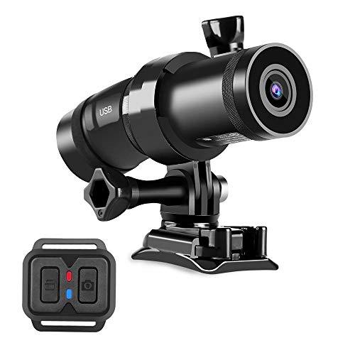 YLJR La cámara del Deporte Mini cámara HD 1080P IMX307 WiFi DVR Casco de la Motocicleta de Doble Canal Ultra HD (Color : Black, Size : One Size)