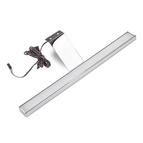 Sotech LED Möbelleuchte Alegra kaltweiß (6500 Kelvin) verchromt - Energieeffizienzklasse A+ - LxHxT: 304 x 62,0 x 97,0 mm - 12 V/DC / 5 Watt / 160 Lumen - Vitrinenleuchte Aufbauleuchte von SO-TECH®