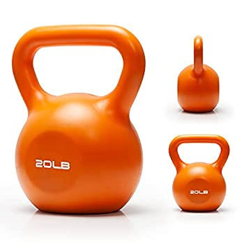 Kettlebell Set TopMade 20lbs Vinyl Coated Cast Iron Kettlebells Grip Weights Set Exercise Fitness Kettle Ball Dumbbell Kettlebell Set for Women Men Home Gym Workout Ballistic Core Strength Training