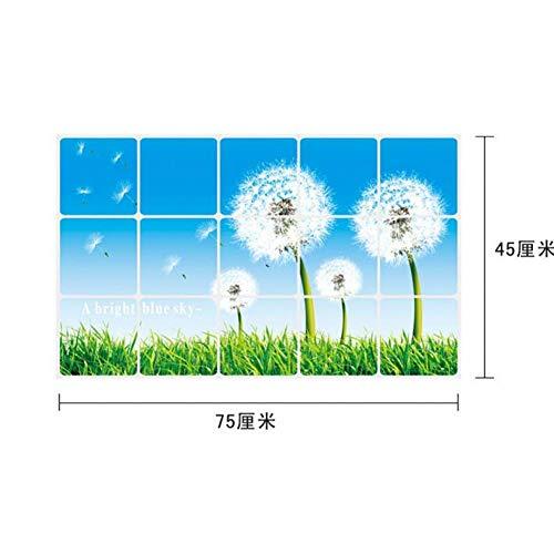 HWJHYW Bloemen Tulp Anti-olie Muursticker Voor Keuken Tegel Thuis Decor Aluminium folie Hittebestendige Oliebestendige Mural 15