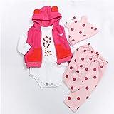 Binxing Toys Reborn Bebé muñeca Ropa para 24 Pulgadas Bebé Reborn muñeca Accesorios para niño y niña (Jirafa Rosa
