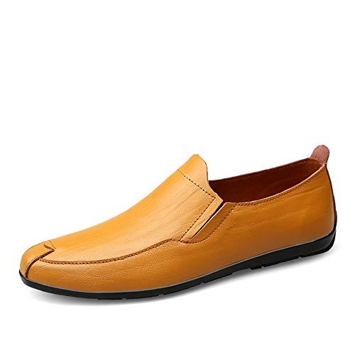 Chengxin Bi-Pin LED Leuchten, Neue Herrenmode Driving Loafers lässig und bequem Classic Soft British Style Boot Mokassin (Color : Light Brown, Size : 47 EU)