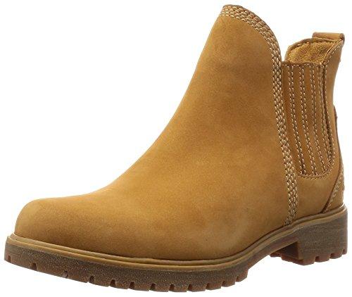 Timberland Damen Lyonsdale Chelsea Boots, Braun (Wheat Nubuck), 39 EU