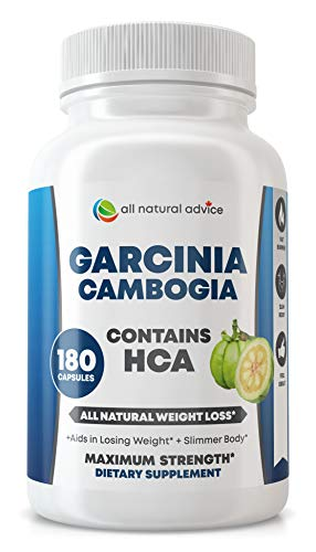 All Natural Advice Garcinia Cambogia Extract with Pure HCA 180 Capsules. The most effective All Natural Weight Loss Aid