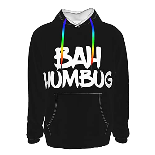 Bah Humbug - Sudadera con capucha para hombre, color negro