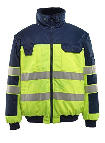 Mascot 00920-660-171-2XL Jacke Pilotenjacke Livigno Größe 2XL in gelb/marineblau