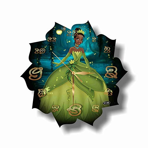 MAGIC WALL CLOCK FOR DISNEY FANS The Princess and The Frog 11'' Handmade Made of Acrylic Glass - Get Unique décor for Home or Office – Best Gift Ideas for Kids, Friends, Parents and Your Soul Mates