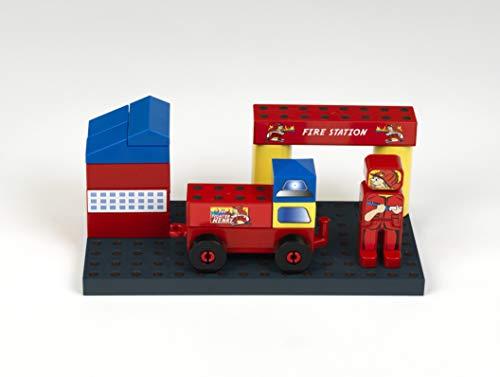 Theo Klein 0017 0017-MANETICO Feuerwehrsstation, Spielzeug, Rot