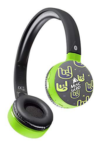 Musicsound Bluetooth-hoofdtelefoon met uittrekbare hoofdband, kleurrijk, draadloze headset met microfoon, LED-display en afstandsbediening op paviljoenen, rock