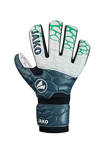 JAKO Prestige Basic RC Protection Torwart-handschuh, anthrazit/Türkis, 6
